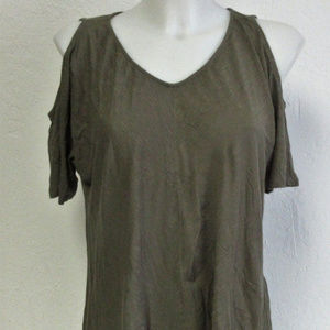 Calvin Klein Jeans Cold Shoulder Top Ivy Mist Tee